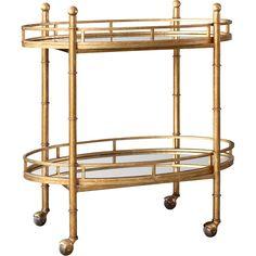 Gold Normandy Bar Cart