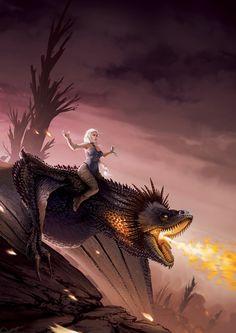 Daenerys Targaryen - GOT Tribute, Lorenzo Lanfranconi Game Of Thrones Gifts, Game Of Thrones Dragons, Game Of Thrones Art, Fantasy World, Fantasy Art, Daenerys Targaryen, Khaleesi, Game Of Trones, Dragon Rider