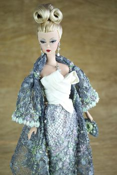 Creations, specializes in one-of-a-kind doll designs, formed by fashion designer, Mario Paglino and graphic art director, Gianni Grossi. Barbie Gowns, Barbie Dress, Barbie Doll, Fashion Dolls, Fashion Outfits, Vintage Barbie Clothes, Doll Wardrobe, Doll Parts, Barbie Collector