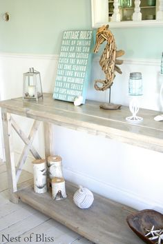 Minwax weathered oak. DIY Create The Look Of Weathered Wood With Stain! @nestofbliss