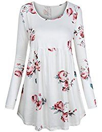 Looking for FANSIC Women Floral Tops,Short Sleeve Empire Waist A Line Flowy Tunics Blouses ? Check out our picks for the FANSIC Women Floral Tops,Short Sleeve Empire Waist A Line Flowy Tunics Blouses from the popular stores - all in one. Long Tunic Tops, Long Sleeve Tops, Kurta Designs, Blouse Designs, Casual Dresses, Fashion Dresses, Muslim Women Fashion, Blouse And Skirt, Trendy Tops
