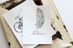 Silhouette Curio Sketch Pens - Feather