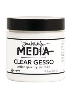 Clear gesso: a love story...