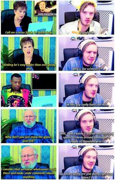 "PewDiePie reacts to the FineBro's ""Elders React to PewDiePie"". But, damn! Elders! They were so MEAN! XDDD"
