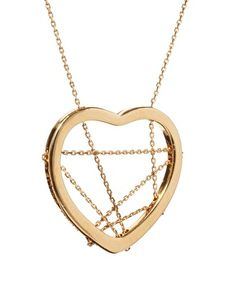 Enlarge Gogo Philip Heart And Chain Long Pendant Necklace