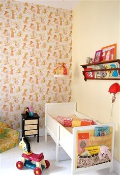 the boo and the boy: Colourful, vintage inspired kids' rooms