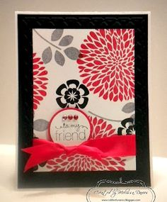 Stampin' Up!  Great use of bold color