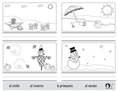 Spring Printouts Spanish  Spanish for Kids - http://www.chillola.com