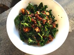 Eat the most important colours of the rainbow! This kale and sweet potato salad is both healthy and delicious!
