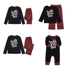 Kehen Family Matching Christmas Pajamas Sleepwear Letter Printed Long Sleeve Tops Xmas Tree and Car Pjs Pant Set
