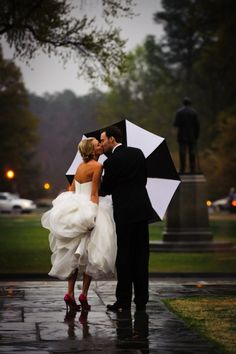Makes a rainy wedding not look so bad