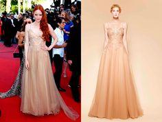 Barbara Meiereleigio eligio  un diseño de la firma Yolancris   #glamour #redcarpet #dress #vestido #moda #fashion #cannes #actriz #modelo