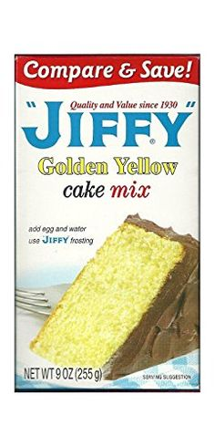 Great Jiffy Golden Yellow Cake Mix 9-oz Boxes (Pack of 6), ,