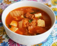 "~ kimchi soup ~ kimchiguk in Korean ~  a well-balanced ""one pot meal"" when served with rice ~  vitamins and minerals from well-fermented kimchi ~  protein from pork and tofu ~ easy to make ~"