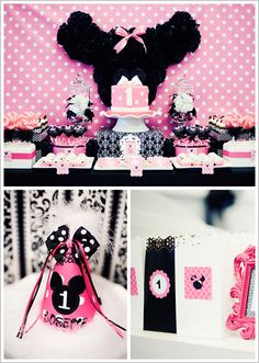 cute Minnie Mouse 1st birthday party