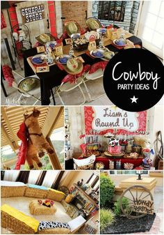 Boy's Cowboy Birthday Party Ideas