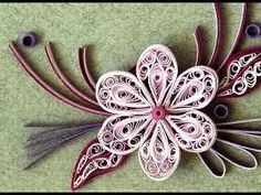 Paper Quilling How to make Beautiful Quilling Pink/White New Flower Qui...