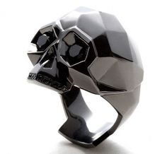 Black Skull Ring mastermind JAPAN x CORE JEWELS – metaphor Collection