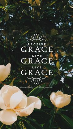 """Receive grace: """"For it is by grace you have been saved, through faith—and this not from yourselves, it is the gift of God—not by works, so that no one can boast."""" Eph. 2:8. Give grace: """"Be kind and compassionate to one another, forgiving each other, just as in Christ God forgave you."""" Eph. 4:32. Live grace: """"Do not conform to the pattern of this world, but be transformed by the renewing of your mind..."""" Rom. 12:2 hollylane.com"""