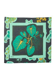 The multi functional Rodebjer Plant Scarf is a versatile detail made of a soft cotton and wool mix with the original plant print of the season. x Color: Black Scarves, Creative, Green, Artwork, Plants, Accessories, Shopping, Black, Lion