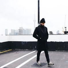 Beanie beard coat men Style tumblr sneakers