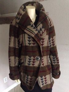 Bradley Michael Tribal Arrows Striped Jacket Wool M Neiman Marcus Vintage | eBay