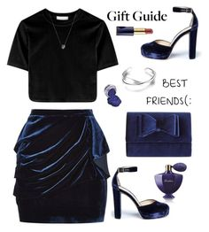 """#besties"" by rasa-j ❤ liked on Polyvore featuring Guerlain, Jimmy Choo, INC International Concepts, Pinko, Links of London, Estée Lauder, besties and womensFashion"