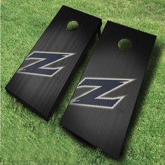 These officially licensed NCAA University of Akron cornhole boards, featuring a slanted Zips logo design, are great for displaying collegiate...