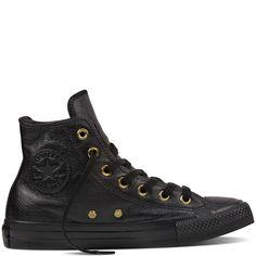 Chuck Taylor All Star Leather + Fur Negro black/black/black