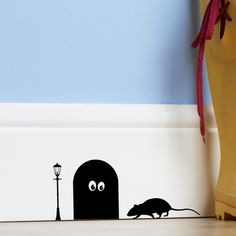 Hey, I found this really awesome Etsy listing at https://www.etsy.com/listing/163198876/funny-wall-sticker-mouse-hole-home-kids