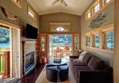 I love all the light from the windows #tinyhouse #community