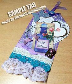 Pretty Perfume Bottles Handmade Gift Tag, made by Elizabeth Worthington