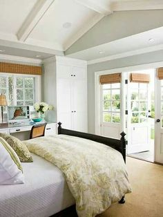Would love to have french doors that open out to a beautiful deck!