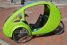 This is ELF. Dubbed the 'Organic Transit Vehicle', it's powered by human and solar power and has a top speed of 30mph.  With zero emissions, ELF is without insurance requirements, therefore the only cost (besides replacing the odd tyre) is the power needed to charge the battery.   It's quirky in design, eco-friendly and cheap to run - would you commute with ELF?