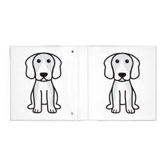 Beagle Dog Cartoon 3 Ring Binders