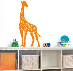 Alphabet Giraffe  Vinyl Wall Art Lettering by DelicateExpressions
