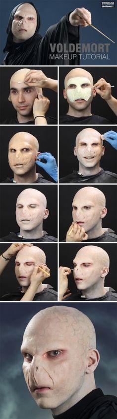 Harry Potter Voldemort Makeup Tutorial - My Best Makeup List Harry Potter Voldemort, Lord Voldemort, Harry Potter Halloween, Harry Potter Cosplay, Male Makeup, Sfx Makeup, Costume Makeup, Maquillaje Harry Potter, Artistic Make Up