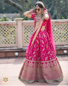 Looking for Bridal Lehenga for your wedding ? Dulhaniyaa curated the list of Best Bridal Wear Store with variety of Bridal Lehenga with their prices Pink Bridal Lehenga, Indian Wedding Lehenga, Designer Bridal Lehenga, Pink Lehenga, Wedding Lenghas, Indian Bridal Outfits, Bridal Dresses, Indian Dresses, Fancy Dress Design