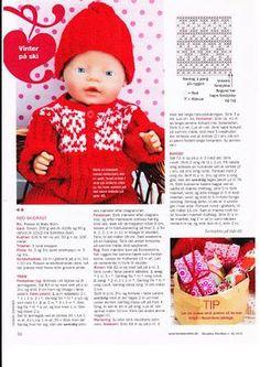Albumarkiv - Baby Born & Build-a-Bear 3 Knitting Dolls Clothes, Doll Clothes Patterns, Girl Doll Clothes, Doll Patterns, Knitting Patterns, Barbie And Ken, Barbie Dolls, Knitting Books, Painted Books
