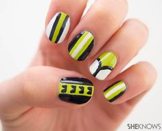 Football Nail design: Seattle Seahawks manicure tutorial