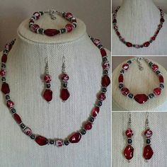 Check out this item in my Etsy shop https://www.etsy.com/listing/494398946/red-splatter-glass-beads-w-red-ruby