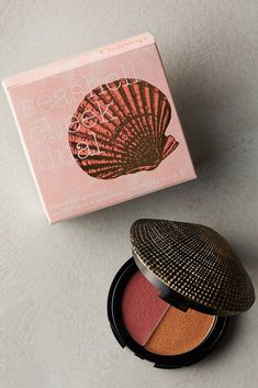 Gift idea 101- You can never go wrong with something mermaid inspired!  A seashell compact is the perfect addition to any girls makeup supply.