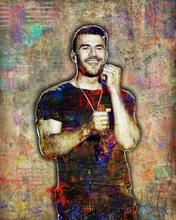 Same Hunt Poster, Sam Hunt Portrait Gift, Sam Hunt Colorful Layered Tr                      – McQDesign