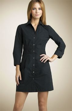 Only $40! Theory Black Silvana Shirt Dress. Size 8. Retail Price $180. www.modoboutique.com