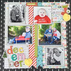 december scrapbook layout 12x12 using bella blvd by the creative copycat