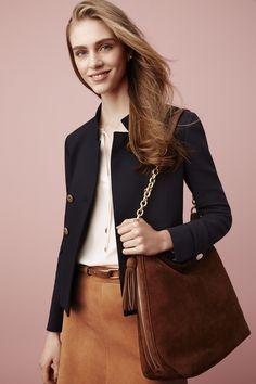 For Her: Ann Taylor's Smart Blazer, a modern take to a wardrobe staple. @Ann Taylor