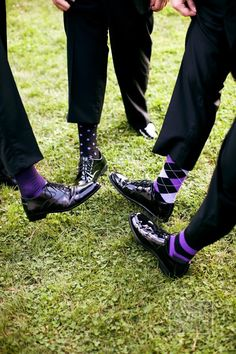 I had to re-pin this! I love it. I think Morgan should make the guys wear purple socks! :)