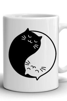 Yin and Yang cats Mug/Сoffee mug/Work mug/Office mug/Best Birthday gift/Stylish coffee mug/Funny mug/A gift for a girl/A gift for a guy Mug Crafts, Cat Mug, Best Birthday Gifts, Funny Mugs, Yin Yang, Different Colors, Coffee Mugs, Print Design, Guy