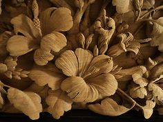 HAND CARVED TEAK WOOD CARVING SCULPTURE HUMMINGBIRD HIBISCUS WILDLIFE WALL ART ($1,950)