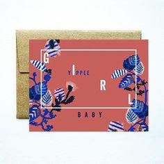 Baby girl yippee card